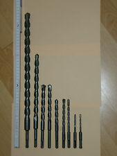 Jeux de 9 mèches SDS, DRILLTECH de 5/110 à 22/450mm en vrac.