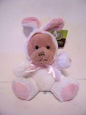 Plush Brown Bear White & Pink Bunny Rabbit Costume Easter Decoration Spring