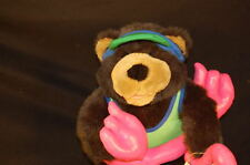 "FLORIDA BEACH BABY BEAR 8"" Plush  HAT FLIPPERS FLOAT  STUFFED ANIMAL LOVEY TOY"