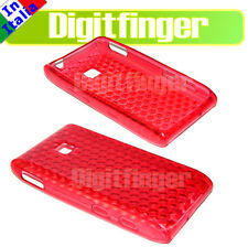 CUSTODIA COVER CASE TPU ROSSA PER LG GT540 OPTIMUS GT