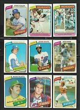 1980 TOPPS BASEBALL ~ YOU PICK (35) ~ BIG LIST~  COMPLETE YOUR SET ~~  EXC-MINT
