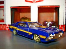 1970 Ford Gran Torino Custom Edition 1/64 Custom Wheels And Tires Hw Cool!