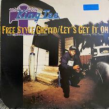 """KING TEE - FREE STYLE GHETTO (12"""")  1995!!!  RARE!!!  XZIBIT + THA ALKAHOLIKS!!!"""