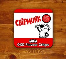 Chipmunk OXO crisps - coaster