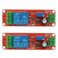 5XAdjustable 12V DC Delay Timer Relay Switch Module 0-10 Second NE555 Oscillator