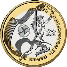 2002 £ 2 Giochi del Commonwealth Inghilterra due Pound Coin Hunt 07/32 RARA 2 ZZ