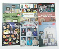 Lot of 9 CROSS STITCH Booklets, Leaflets VARIETY PACK Kids WINTER Irish BABIES+