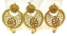 Sari Suits 3 pieces jewelry Mf55 Usa Seller Indian Earring Tikka Golden Stone