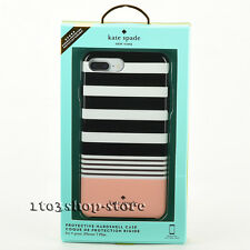 Kate Spade Protective Hardshell Case for iPhone 7 Plus (Black/White/Pink Stripe)