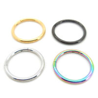 18G 10mm or 8mm Hinged Septum Clicker Nose Ring Segment Ear Cartilage Daith