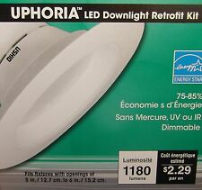 "Pack of 19W LED fits 5"" to 6"" Recessed Downlight Retrofit. Dimmable. Qty. 6"