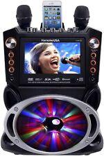 Karaoke USA DVD/CDG/MP3G Portable Bluetooth Karaoke Machine w/ 2 Mics