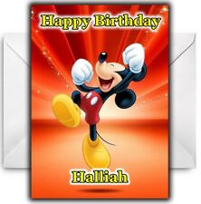 MICKEY MOUSE Personalised Birthday / Christmas / Card - Large A5 - Disney
