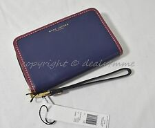 NWT! MARC By Marc Jacobs M0008197 Wallet/Wristlet in Midnight Blue Leather