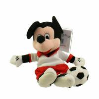 "Vintage Disney Mickey Mouse Bean Bag Plush Soccer Player 8"" Toy Beanie NWT"