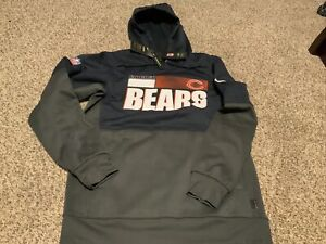 Nike NFL Chicago Bears Therma Pullover On-Field Hoodie 2020 Men's Size: Medium