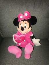 """Minnie Mouse Valentine Pink Kiss Heart 18"""" plush Disney stuffed Dream Int'l toy"""