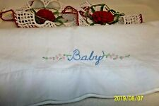 """Vintage Crochet Edging For Pillow Cases Or Other Decor & """"Baby"""" Pillow Case"""