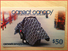 Newborn/Baby Car Seat Canopy $50 Card (US Nationwide):Online CarSeatCanopy.com