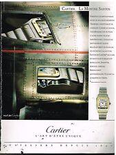 Publicité Advertising 1989 La Montre Santos par Cartier