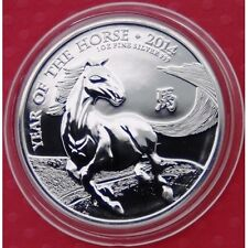 2014 Royal Mint Lunar Year of the HORSE £2 Pound 1oz .999 Silver Bullion Coin