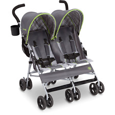 Twin Baby Double Stroller Umbrella Canopy Lightweight Reclining 5 Point Belt New