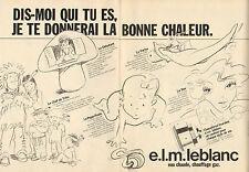 Publicité 1983  (Double page)  e.l.m. leblanc eau chaude chauffage gaz chaudière