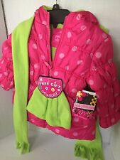 Pink Platinum Girls Puffer Coat Size 4 Youth Hot Pink Water Resistant Hood