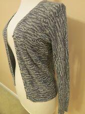 LIZ CLAIBORNE Gray Animal Print V-Neck Long Sleeve Button-up Cardigan Sweater ~S