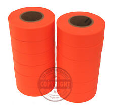 12 ROLLS PRESCO ORANGE GLO SURVEYORS FLAGGING,SURVEYING,BOUNDARY MARKING,TAPE