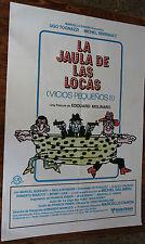 Used - Cartel de Cine  LA JAULA DE LAS LOCAS  Vintage Movie Film Poster - Usado