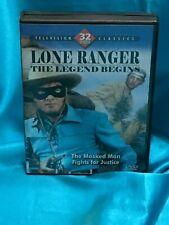 LONE RANGER: THE LEGEND BEGINS, DVD, 2 Disc Set, 17 episodes, B & W, Viewed Once