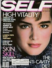 ***VINTAGE SELF MAGAZINE BROOKE SHIELDS FEBRUARY 1984 COVER