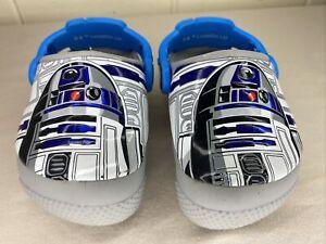 Crocs Star Wars Clogs Toddler Size C4 Gray R2D2 Slip On Light Up Shoe