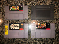 Super Nintendo SNES Games Lot - 3 + System Cleaner Cartridge
