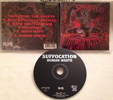 Suffocation - Human Waste CD OOP 1991 RELAPSE dismember carcass impaled seance