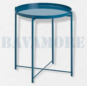 "IKEA GLADOM Table removable tray, high gloss dark blue 17 1/2x20 5/8"" BRAND NEW"