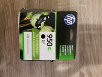 NEW Genuine HP 950XL Black Ink Cartridge, High Yield F6U19AN  Exp. April 2019