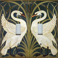 Light Switch Plate Cover VINTAGE HOME DECOR ~ ART NOUVEAU SWANS SWAN