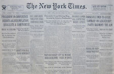 DILLINGER IS HUNTED IN MICHIGAN WOODS 4-1934 April 22 FDR SILVER INFLATION