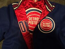 Mitchell & Ness Detroit Pistons wool reversible size 44 large jacket retail 450$