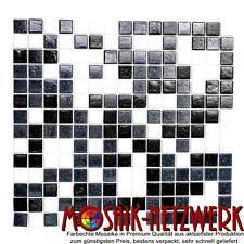 Mosaik mix weiß/grau/schwarz Fliesenspiegel Küche Wand Art: 52-0302 | 10 Matten