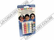 SNAZAROO - FACE PAINTING STICKS - SET 5 STICK COLORI PER VISO