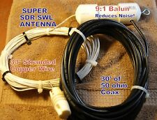 New! Super Sdr-Swl Antenna, with Balun and Coax,All Band! New!