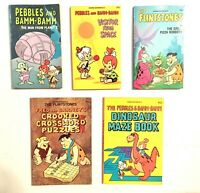 The Flintstones by Hanna-Barbera Vintage Book Lot of 5 | FREE SHIPPING