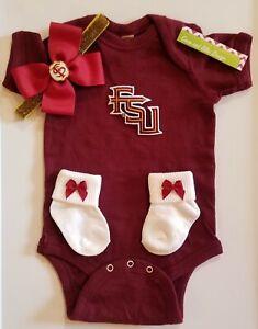 Florida State baby/newborn clothes Florida state baby gift FSU baby girl