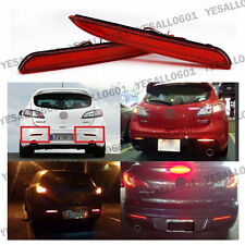 2PCS LED Rear Bumper Reflector Lens Brake Lights For Mazda 3 Axela BL 2010-2013