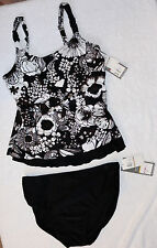 Silhouette Solution Underwire Size 12D cup Tankini Set Retail $88