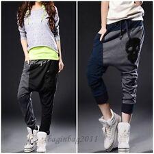 Damen Haremshose Hip Hop Dance Hosen Baggy Freizeithose Jogginghose Sporthose