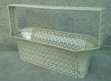 rare panier BASKET design JOSEF HOFFMANN wiener werkstatte korb iron sheet glass